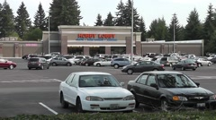 Busy Hobby Lobby Parking Lot - stock footage