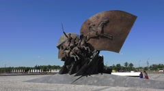 World War I monument in Park Pobedy, Moscow, Russia. Stock Footage