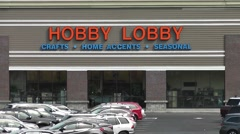 Hobby Lobby Telephoto Zoom Out - stock footage