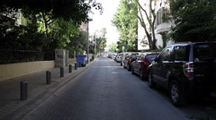Quiet small street in Tel-Aviv Stock Footage