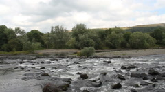 River Tweed near Melrose Scotland Stock Footage