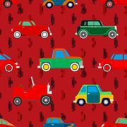 wallpaper of cars. - stock illustration