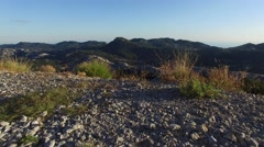 Evening view of the mountain Lovcen Montenegro Stock Footage