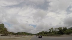 Stock Video Footage of Road Trip Hyper Lapse Bumper Camera