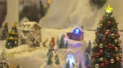 Christmas Tree Decoration At Paris Stock Footage