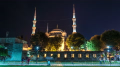 Istanbul. Blue Mosque at night. Stock Footage