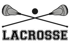 Lacrosse sticks and ball. Flat style Stock Illustration