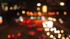 De focused night traffic in the city - stock footage