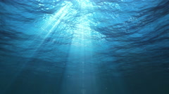 Underwater Sun Rays in the Ocean (Loop) - stock footage