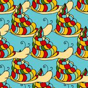 snail background - stock illustration