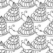 snail background - stock illustration