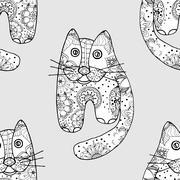 Seamless pattern od cats Stock Illustration