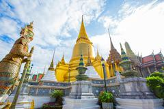 Stock Photo of Wat Phra Kaew, Temple of the Emerald Buddha,