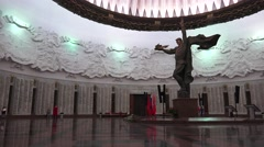 The Hall of Glory, Museum of the Great Patriotic War, Park Pobedy, Moscow Russia Stock Footage