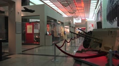 Inside the Museum of the Great Patriotic War, Park Pobedy, Moscow, Russia. Stock Footage