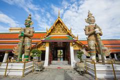 Wat Phra Kaew, Temple of the Emerald Buddha, - stock photo