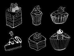 cake - stock illustration