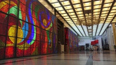 Entrance to the Hall of Glory, Museum of the Great Patriotic War, Moscow Russia Stock Footage