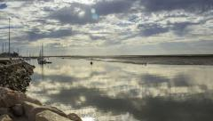 4K Timelapse Olhao Ria Formosa Waterfront Panoramic View Stock Footage