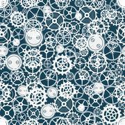 cogwheel pattern. - stock illustration
