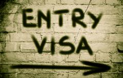 Entry Visa Concept Stock Illustration