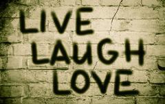 Love Laugh Love Concept Stock Illustration