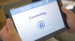 4K Mobile Banking Connection to Account App Stock Footage