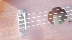 stringed instrument ukulele - stock footage