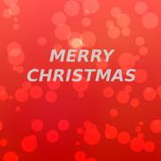 Merry christmas inscription of snowflakes on red bokeh background. Stock Illustration