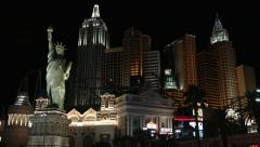 Las Vegas New York Hotel & Casino Stock Footage