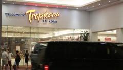 Las Vegas Tropicana Hotel & Casino Entrance Stock Footage