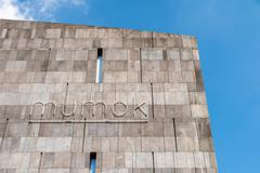 Mumok (Museum Moderner Kunst) Museum of Modern Art In Vienna - stock photo