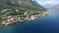 Birth of Our Lady church in town Prcanj, Montenegro Stock Footage
