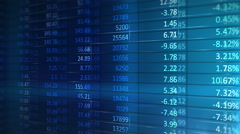 4k Stock Market Board Moving Seamless Loop Animation Stock Footage
