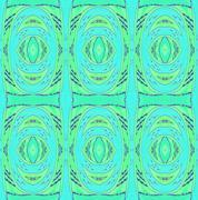 Seamless ellipses pattern green turquoise - stock illustration