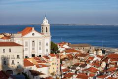 City of Lisbon Alfama District in Portugal Stock Photos