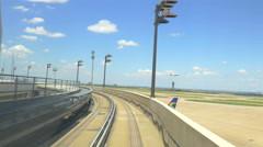 Dallas airport tram time lapse Stock Footage