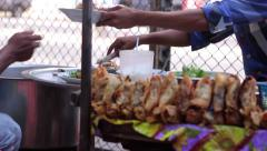 Kitchen on the street. Stock Footage