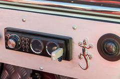 Dashboard tuned car Stock Photos