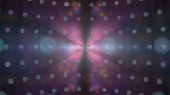Blurred glowing motion particles animation background Stock Footage