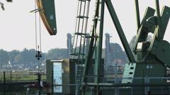Pumpjack in Germany, Oil industry Stock Footage