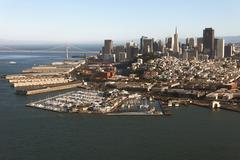 Aerial view of San Francisco downtown and the Bay Bridge Kuvituskuvat