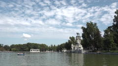 Retiro Park, Madrid Stock Footage