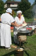 Stock Photo of Renaissance Festival, Koprivnica, Croatia, 2015, washing the dishes.