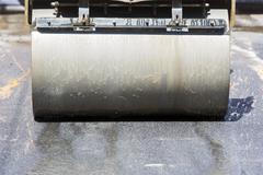 Compactor roller asphalting Stock Photos