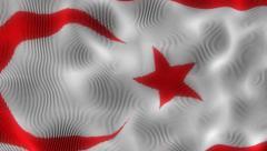 Waving Flag Northern Cyprus Stock Footage