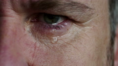 Close up of man crying, 4k, UHD Stock Footage