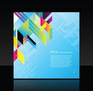 Modern CD cover - stock illustration