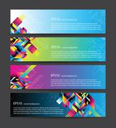 Stock Illustration of 4 beautiful horizontal web banners