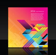 Beautiful business template with lines and gradients - stock illustration